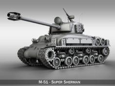M-51 Super Sherman Isherman 3D Model