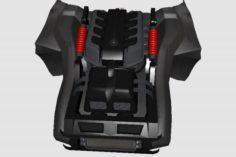 3D Engine for Chevrolet Corvette Stingray Concept 3D Model