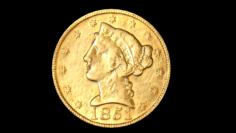 American five dollars 1851 3D Model