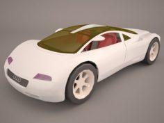 Audi Avus Quattro Poser Vue 3D Model
