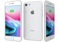 Apple iPhone 8 Silver 3D Model