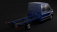 MAN TGE Chassi DoubleCab L2 2017 3D Model