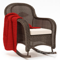 CLASSIC WICKER PLANTATION ROCKER CHAIR                                      3D Model