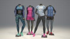 Female mannequin Nike pack 2 3D model 3D Model