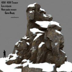 Snow rocks 3D Model