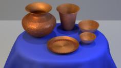 Copper Household set 3D Model