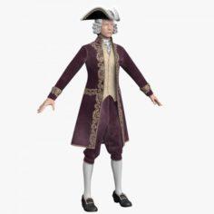 Mens Dress of the 18th Century 3D Model
