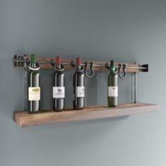 Loft wine rack 3D Model