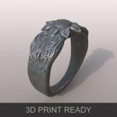 Ring butterfly Free 3D Model