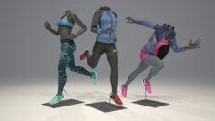 Female mannequin Nike pack 4 3D model 3D Model