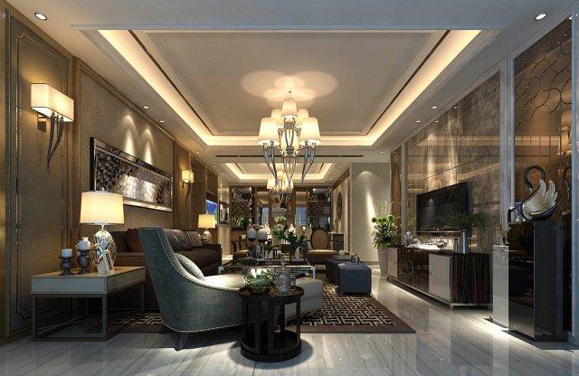 Stylish Avantgarde Living Room Design D Model DHuntco - Avant garde living rooms