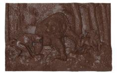 Bear Hunt Bas relief 3D Model