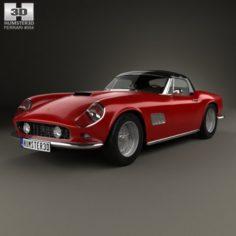 Ferrari 250 GT California SWB Spyder with HQ interior 1958 3D Model