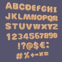 Roman Alphabet 3D Model