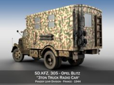 Opel Blitz – 3t Truck with Radiokoffer 3D Model