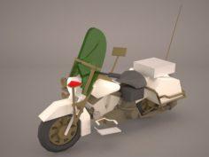 Harley Davidson Road King Classic Police 3D Model