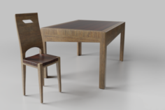 Tablechair 3D Model