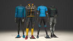 Male mannequin Nike pack 1 3D model 3D Model