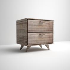 Bedroom nightstand table wood 3D Model