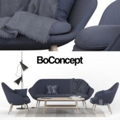 Peachy Boconcept 3D Model In Max Fbx C4D 3Ds Stl Obj Machost Co Dining Chair Design Ideas Machostcouk