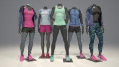 Female mannequin Nike pack 1 3D model 3D Model