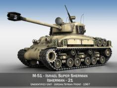 M51 Israel Super Sherman – 21 3D Model