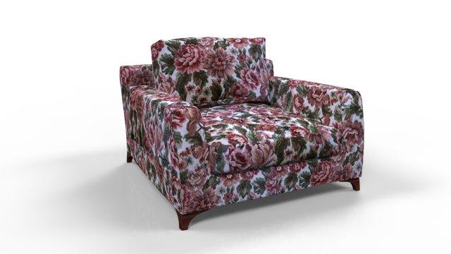 Flowers armchair 3D Model