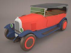 1958 Citroen 2CV Sahara 4×4 3D Model