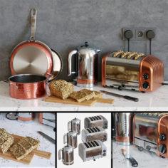 Dualit Toaster Set                                      3D Model