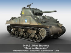 M4A2 Sherman – Brive la Gaillarde 3D Model