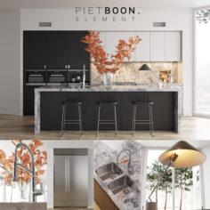 Kitchen Piet Boon ELEMENT (vray GGX, corona PBR)                                      3D Model