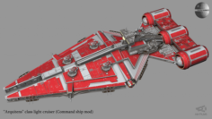 Arquitens-class light cruiser 3D Model