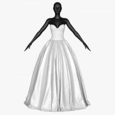 Wedding dress 019 3D Model
