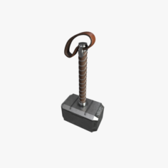 3D Thors Hammer Mjolnir model 3D Model