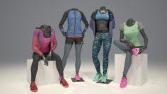 Female mannequin Nike pack 3 3D model 3D Model