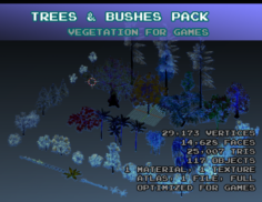 Super Vegetation Pack 3D Model