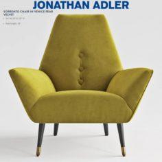 Jonathan Adler SORRENTO CHAIR IN VENICE PEAR VELVET 3D Model