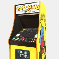 Low Poly PBR Pacman Cabinet 3D Model