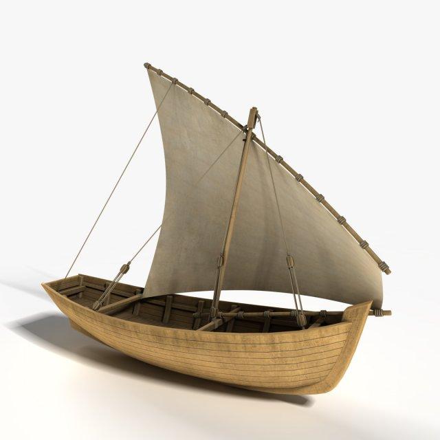 Dhow Boat 3D Model