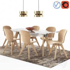 Awe Inspiring Boconcept 3D Model In Max Fbx C4D 3Ds Stl Obj Machost Co Dining Chair Design Ideas Machostcouk