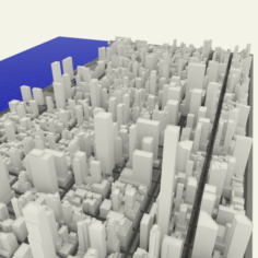 NYC Midtown Manhattan East 3D Model