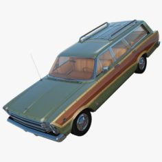 Ford Country Squire 1966 3D Model