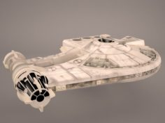 Millennium Falcon Space Ship Star Wars 3D Model