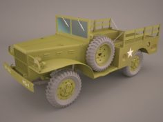 US Army Dodge WC-51 3D Model