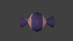 Lowpoly candy 02 3D Model
