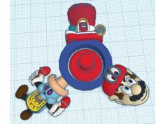 Mario Odyssey Spinner 3D Print Model