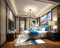 Stylish master bedroom design 88 3D Model