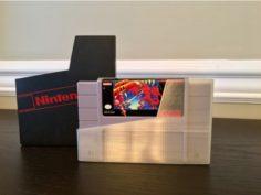 Nintendo SNES Cartridge Dust Cover / Storage Sleeve 3D Print Model