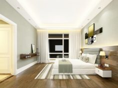 Stylish master bedroom design 22 3D Model
