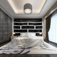 Stylish master bedroom design 20 3D Model
